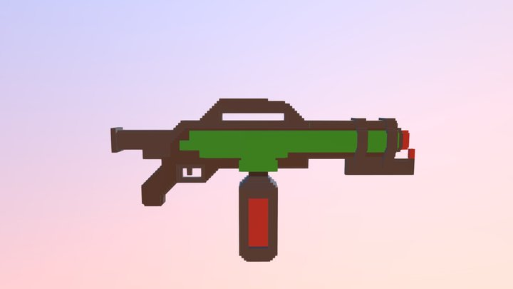 Voxel Flamethrower 3D Model