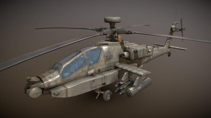 AH-64D Apache Longbow Low Poly 3D Model