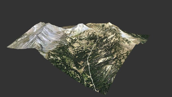 Henderson Mountain, Montana 3D Model