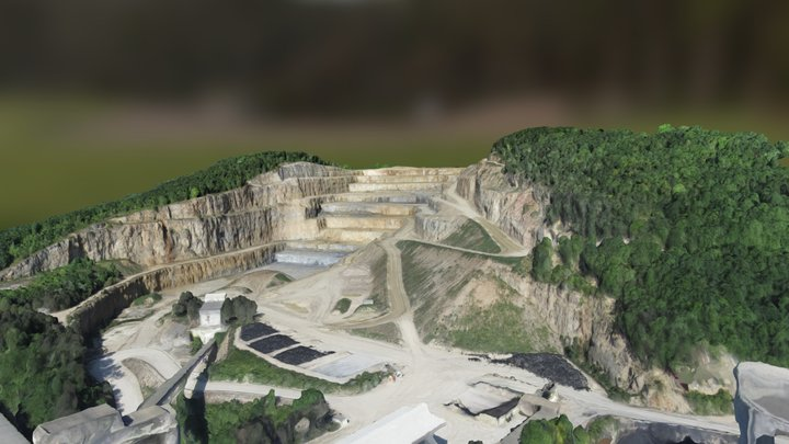Mapping a quarry 3D Model