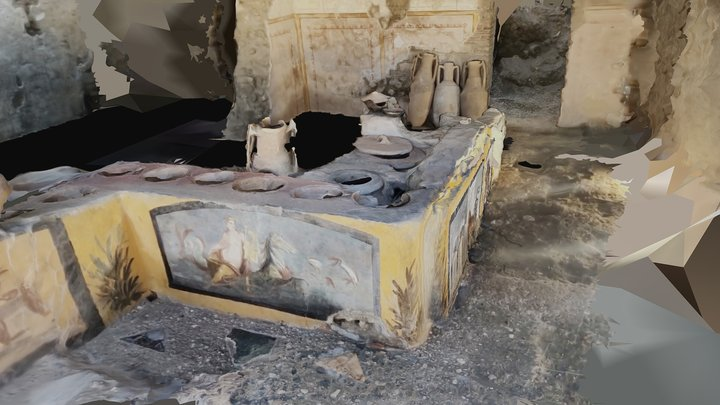 Pompeii - Bar in insula V.3 3D Model