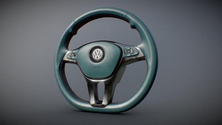 Volkswagen steering wheel 3D Model
