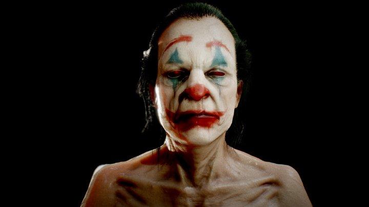 Joker Portrait 3D Model