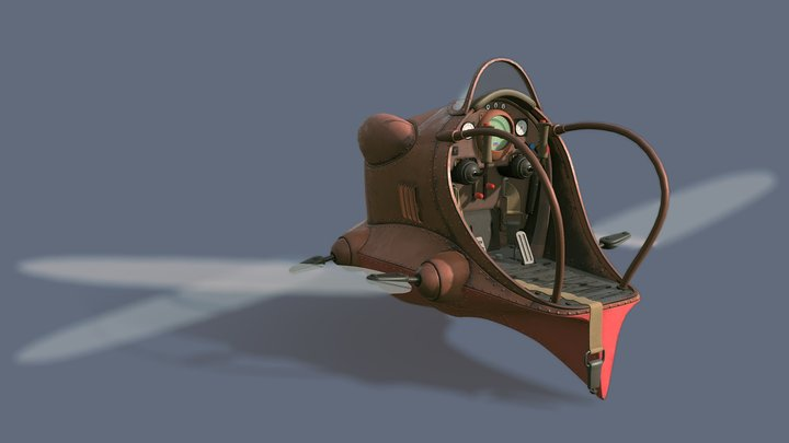 Dola's Flaptor (Castle in the Sky) 3D Model
