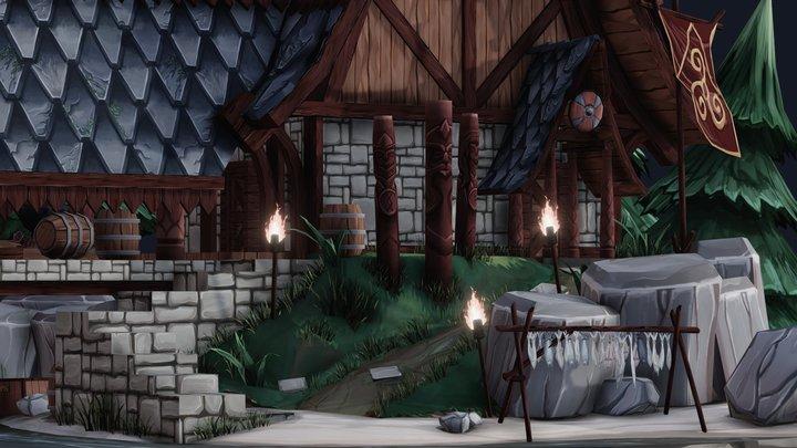 Vikings House 3D Model