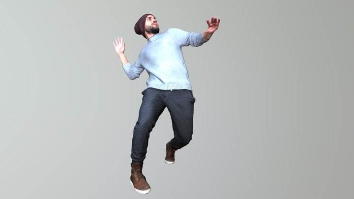 No2 - Matrix Guy 3D Model