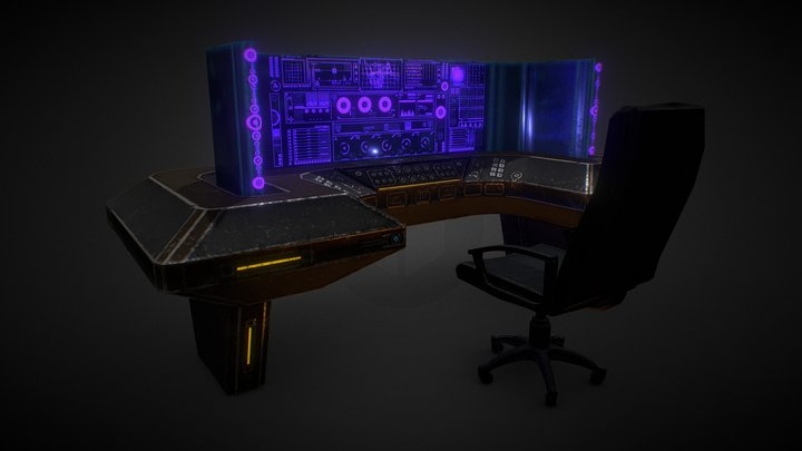 Weathered Workstation 3D Model