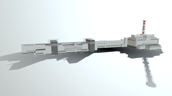 Chernobyl Nuclear Power Plant Simplified 3D Model