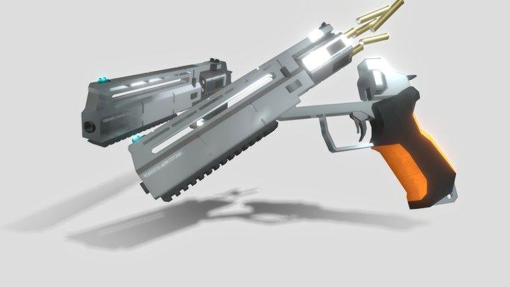XAR Revolver 3D Model