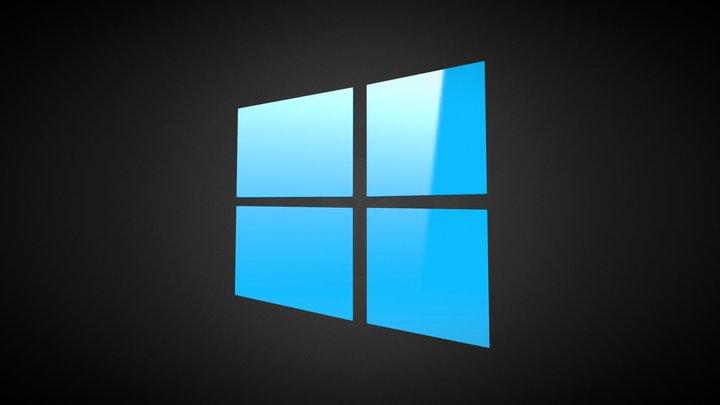 Windows 8 Logo 3D Model