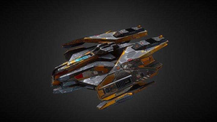 Free Sci Fi Fighter 3D Model