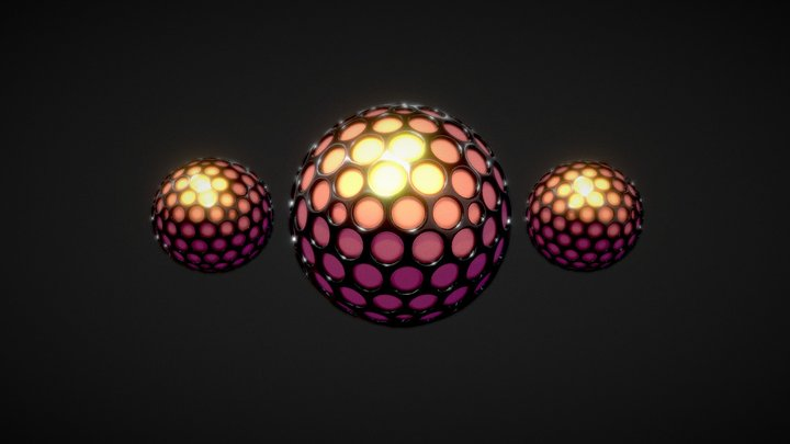 Spherical (+Beveled Holes) 3D Model