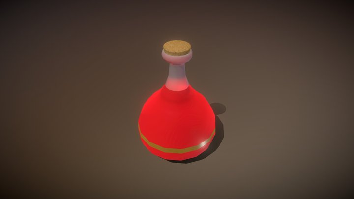 Low poly health potion 3D Model