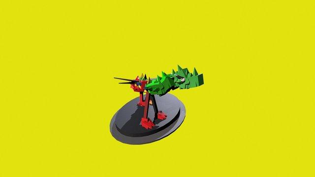 Drache Spielfigur 3D Model