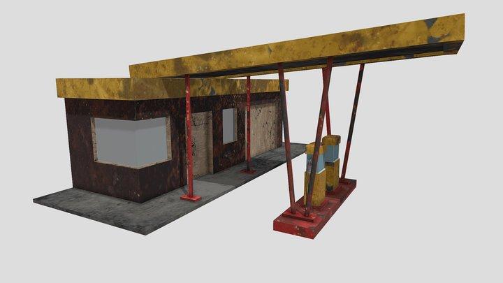 Gas Station Final 3D Model