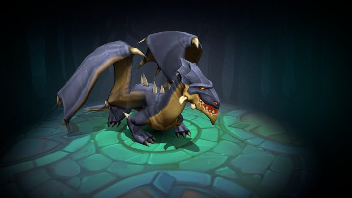 Dragon animated character 3D Model