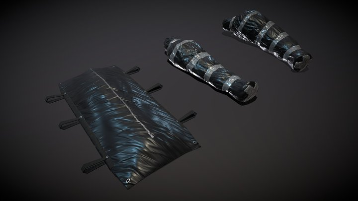 Packaged Corpse, Body Bag (lowpoly) 3D Model