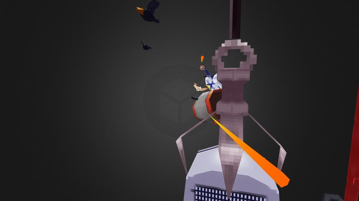 VG Remix Earthworm Jim To late for bullets 3D Model