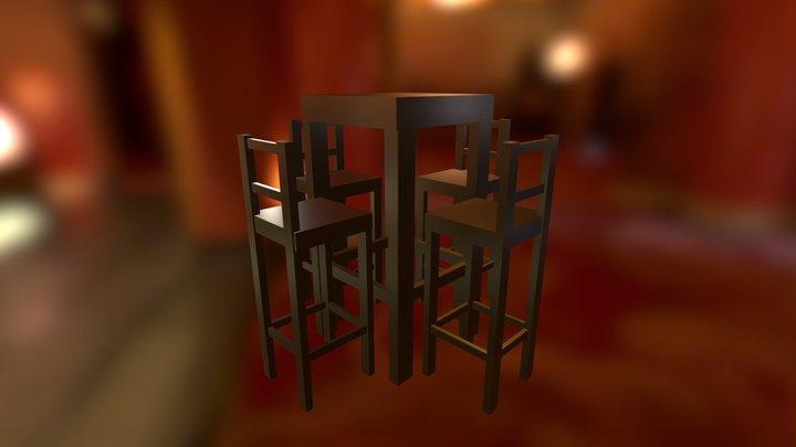 Periquera De Madera 3D Model