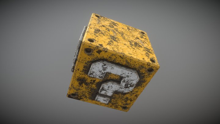 Mario Question Cube (Dystopian Theme) 3D Model