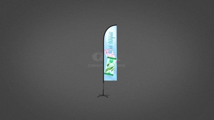 Advertising Flag-Straight 3D Model