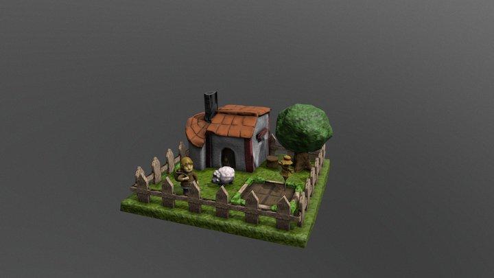 Low Poli Game Concept - Little Farm 3D Model