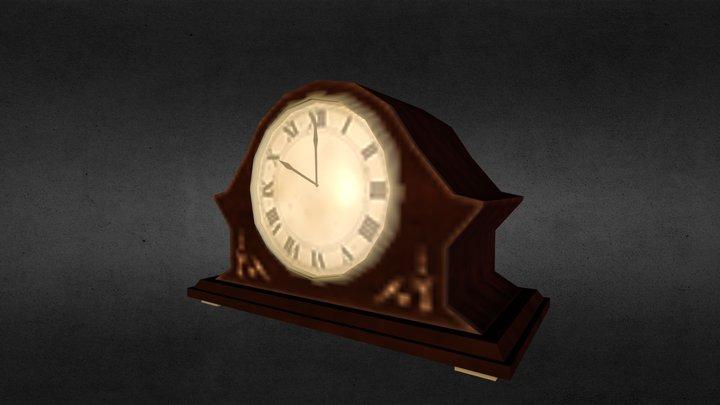 Low Poly Clock 3D Model