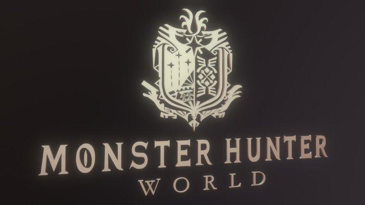 Monster Hunter World Logo   3D Model 3D Model
