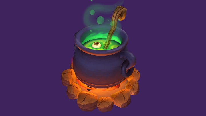 Eyeball Cauldron 3D Model