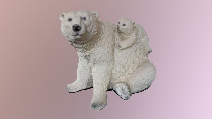 Polar Bear Ornament 3D Model