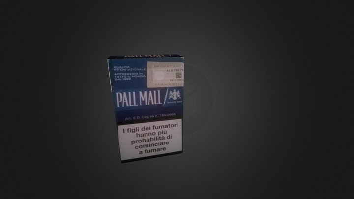 Sigaretta Pall Mall 3D Model