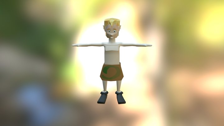 The Tribe Character 3D Model