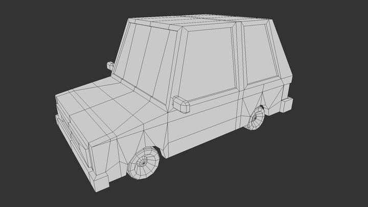 Free - Low Poly Car 3D Model