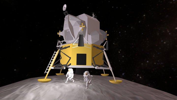 Allunaggio e passeggiata lunare 3D Model