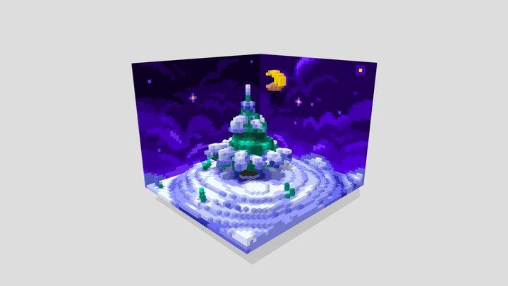 Winter Voxels 3D Model