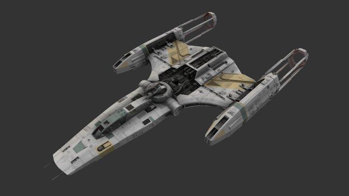 Resistance Y-Wing 3D Model