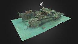 WWII Amtrac (Guam) 3D Model