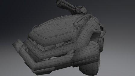 Battle Car 3D Model