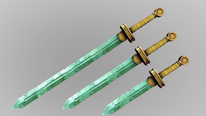 Basic Fantasy Longsword, Shortsword and Dagger 3D Model