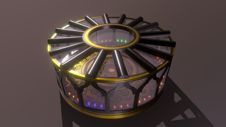 Hall of Steel and Flame 3D Model