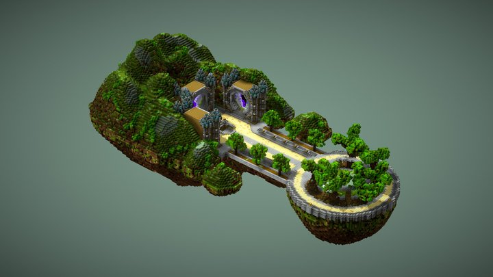 Spring island spawn V21 [4/6] 3D Model