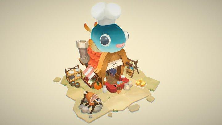 Fish Shop 3D Model