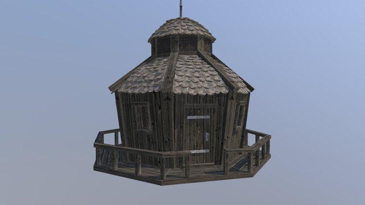Tower Wooden 3D Model