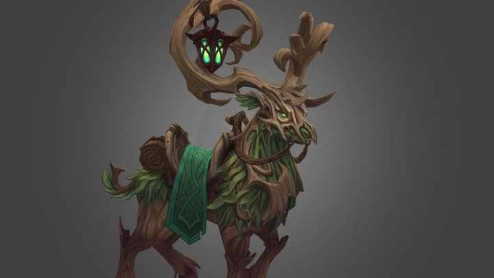 Forest Stag 3D Model