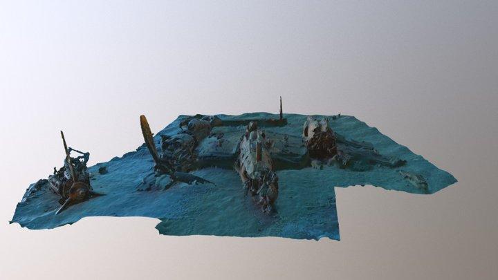 P38 wreck - La Ciotat 38 m depth 3D Model