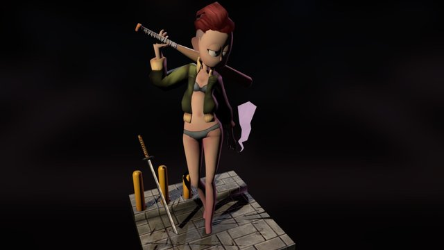 BadassGirl 3D Model