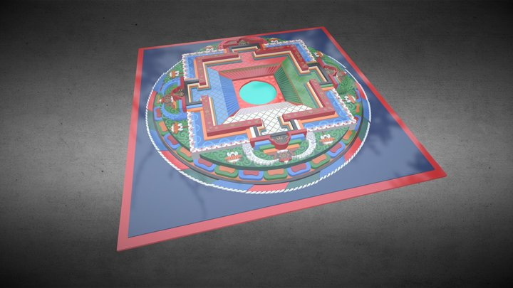 Tibetan Mandala (Blender/Cycles) 3D Model