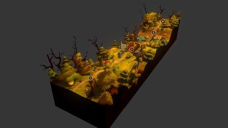 Ouestaghyr - Game environment 3D Model
