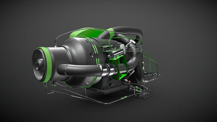 Apu Engine v0.5 3D Model