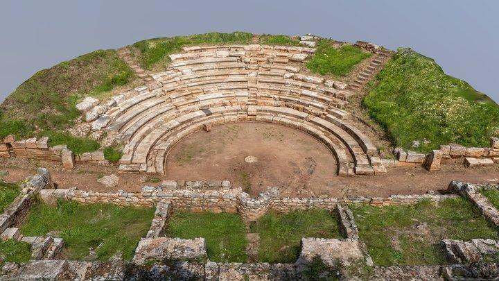 Aptera Theatre Crete Greece 3D Model